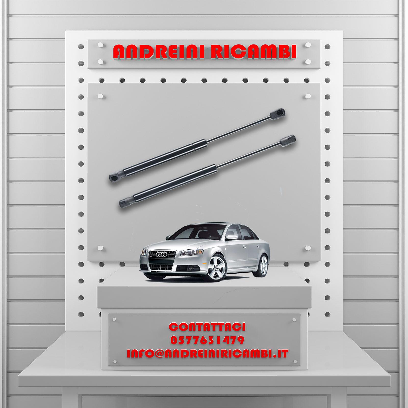 2 MOLLE A GAS BAGAGLIAIO AUDI A4 8EC 2.0 TDI 103KW 140CV 2006MG02112