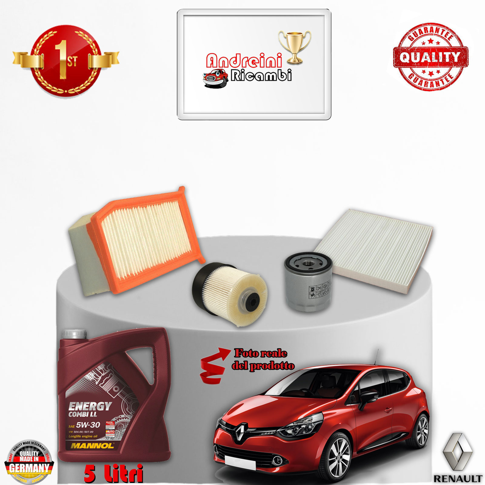 replacement filter kit oil renault clio iv 1 5 dci 55kw 75cv from 2013 ebay. Black Bedroom Furniture Sets. Home Design Ideas